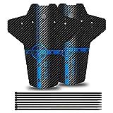 YOLOKE Garde-Boue De Vélo,Garde-Boue VTT,Avant/Arrière Garde-Boue De Vélo Convient 26', 27,5', 29', Mountain Bike Garde-Boue (Bleu)