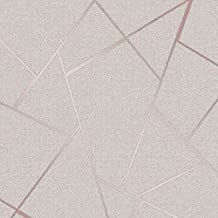 Fine Decor Wallcoverings FD42282 Kwartsfractal-behang, roségoud