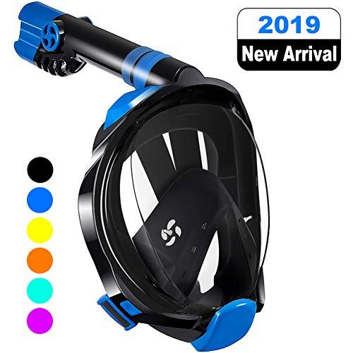 WSTOO Máscara de Snorkel,Máscara de Buceo Plegable 180 Vista panorámica,para Adultos y niños