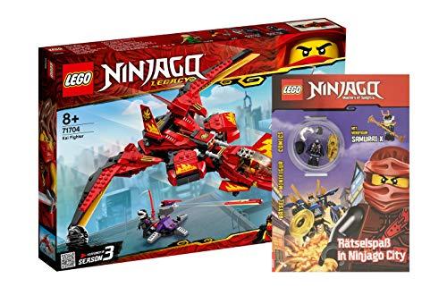 Collectix Lego Ninjago - Set: 71704 Kais Super-Jet + Rätselspaß in Ninjago City mit Samurai X Minifigur (Softcover)