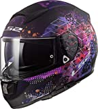 LS2 Casque moto FF397 VECTOR FT2 COSMOS MATT NOIR Rose, Noir/Rose, S