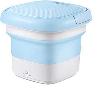 HYSGM Washing Machine Portable Mini with Foldable Tub Personal Ultrasonic Turbo Washing Machine Blue for Camping Apartments Dorms RV Business Trip Clothes