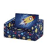 Kid Sofa Chair, Children 2 in 1 Flip Open Foam Sofa Bed for...