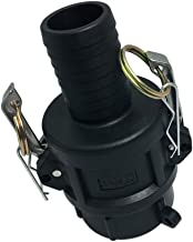 D DOLITY IBC Tote Tank Drain Adapter, 2inch Female Cam Lock to 25-50mm Hose Fitting, Connector, 3 Sizes - 38mm