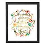 Original modern watercolor art print with a delicate touch of gold foil crafted by artists at Eleville A simple way to create a celebrating, joyful and inspirational environment at home and in the office Let this delicate and unique format of art to ...