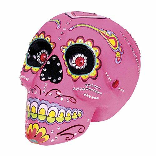 Decorazione Teschio Sugar Skull Deluxe Dia de los Muertos (20x14 cm)