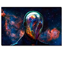 キャンバスペインティング HDプリントキャンバスアート抽象キャラクターサイケデリック星雲空間絵画装飾パネル絵画送料無料 50x75cm