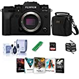 Fujifilm X-T4 Mirrorless Digital Camera Body, Black - Bundle with Shoulder Bag, 32B SDHC Card, Cleaning Kit, Card Reader, Memory Wallet, PC Software Package