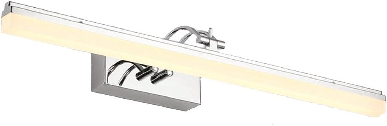 YP-Spiegellicht Highlight LED Energiesparspiegel Scheinwerfer Led Bad Badezimmer Spiegelschrank Spiegel Lampe Makeup Lichter Einfache Moderne Anti-Fog-Wandleuchte (Farbe   Warmwei, gre   59cm 14W)