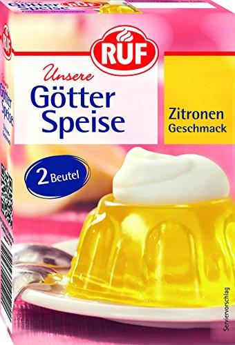RUF Götterspeise Zitrone Wackelpudding gelb im Doppelpack (2 x 12g)