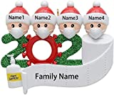 EOVE Family 2020 Christmas Ornament Family Members of 2 Gifts for Grandkids Co-Workers Friends (Customize IT Yourself, Family of 5) (4 People)