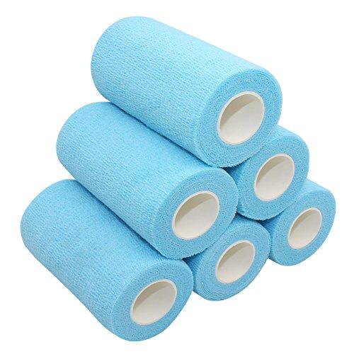 COMOmed selbstklebender verband elastische binde handgelenk bandage pflaster rolle Dog Bandagen Tierische Bandagen See blau 10 cm X 6 Bände