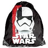 Star Wars - Bolsa de deporte para niños, 36 x 32 cm, color negro, blanco y rojo