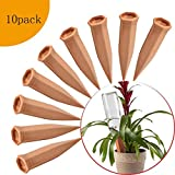 FAMILy Plant Watering Stakes10 Pack Automatic Plant Waterers for Vacations, Plant Watering Devices Terracotta Self Watering Spikes for Wine Bottles Great Plant Nanny for Indoor & Outdoor Plants