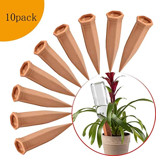 Plant Waterer,12Pcs Plant Self Watering Spike and 1 Pack Soil Testing Kit Slow Release Vacation Plants Watering System,Automatic Watering Devices with Control Valve Switch for Indoor /& Outdoor Plants