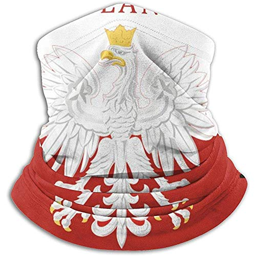 Randy-Shop Polnische Flagge Polen Polska Fleece Neck Warmer Neck Gaiter
