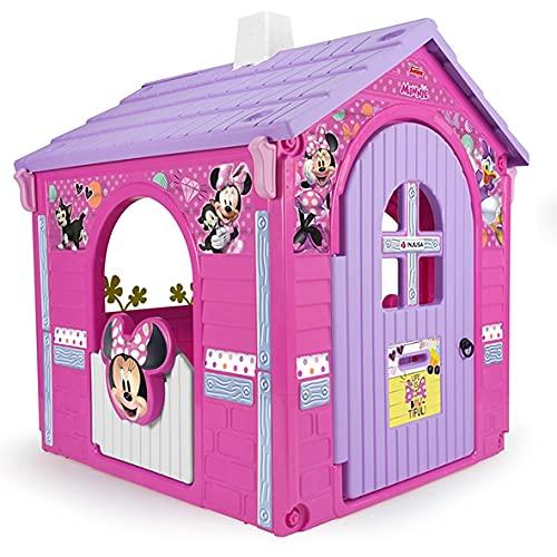 INJUSA - Maison de Jouet Minnie Mouse Rose avec 2 Fenêtres et 2 Portes d'Accès Recommandé pour Enfants de +3 Ans