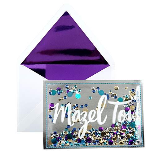 Hallmark Signature Congratulations Greeting Card (Mazel Tov), Confetti Mazel Tov, Model:799RZH1095