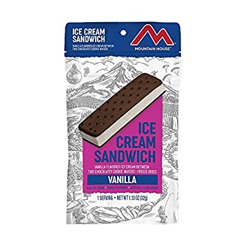 Mountain House Vanilla Ice Cream Sandwich | Freeze Dried Backpacking & Camping Food | 1 Serving