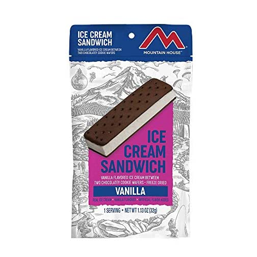 Mountain House Vanilla Ice Cream Sandwich | Freeze Dried Backpacking & Camping Food 4