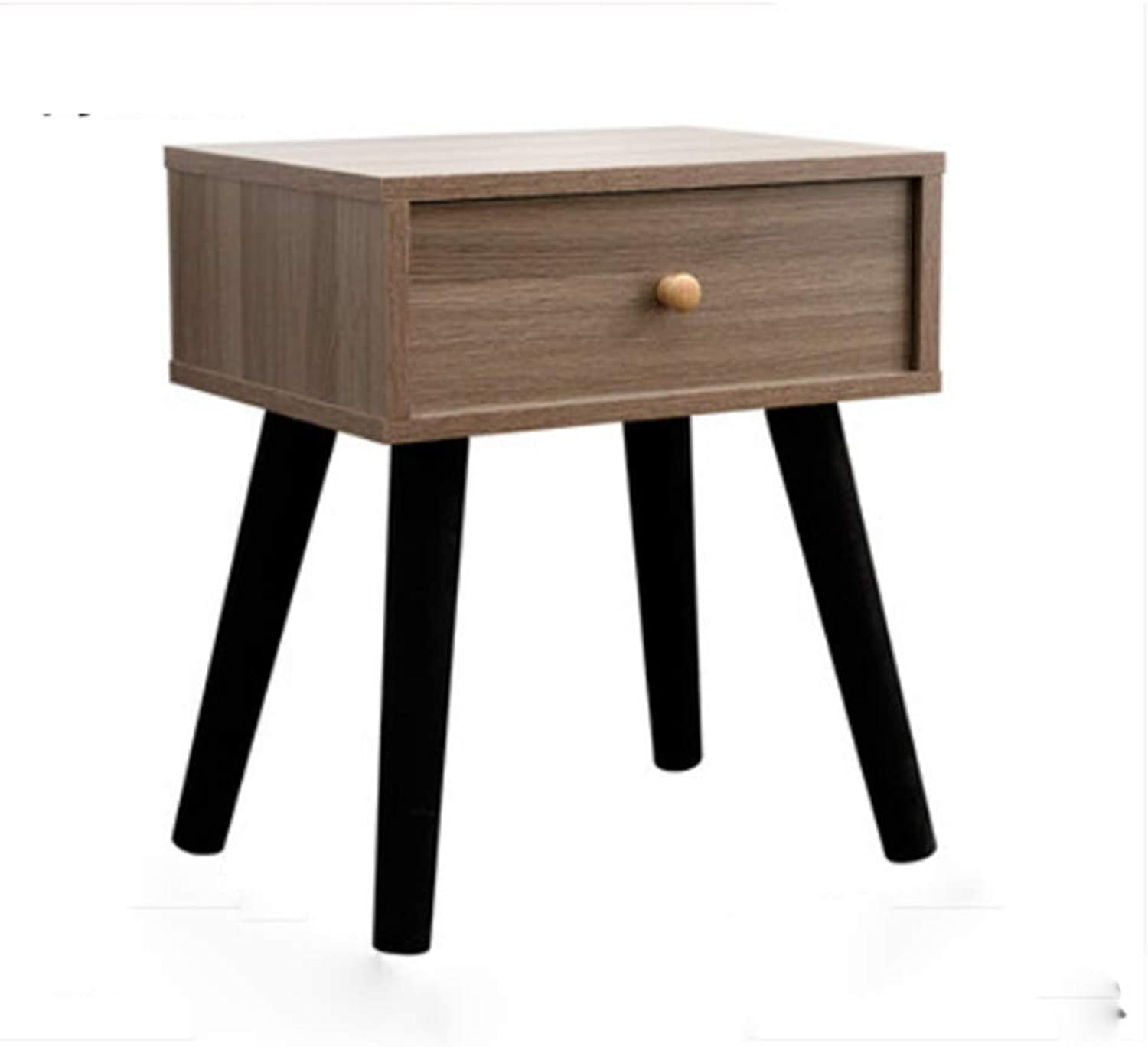 NAN Side End Table Nightstand with 1 Fabric Drawer, Modern Design Accent Table for Bedroom, Living Room, Apartment - 6 colors Available. Folding Tables (color   F)