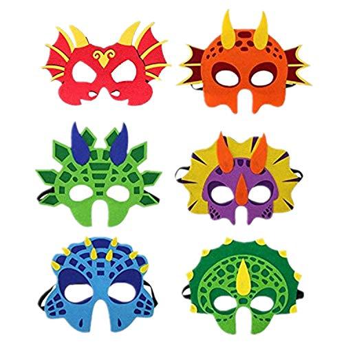 6pcs Cartonn Hero Dragon Animal Face Masks Party Favors Dress Up Costume Set