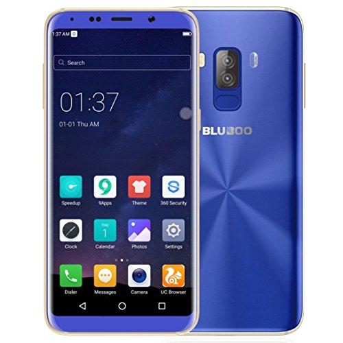 Gaddrt Bluboo S8Android 7.0Smartphone 4GB + 32GB Teléfono Celular con Doble cámara teléfonos móviles de–5.7Inch, Azul