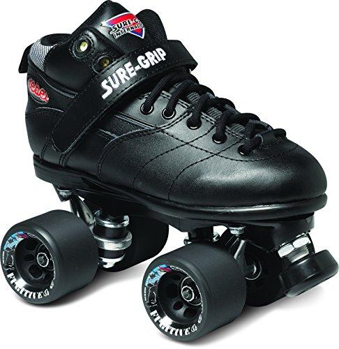 Sure-Grip Rebel Roller Skate Package - Black sz Mens 9 / Ladies 10