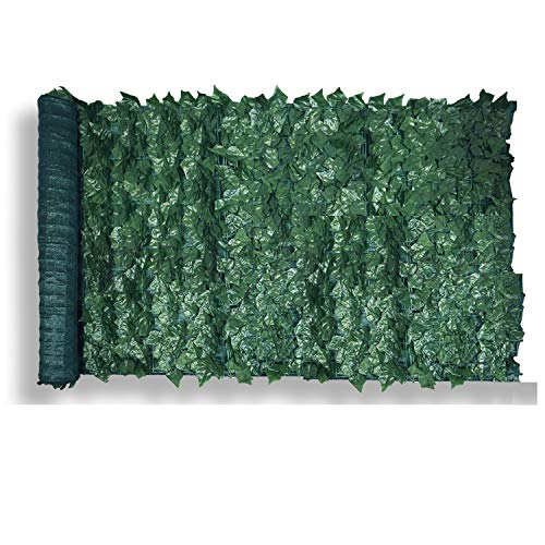 Patio Paradise 39' x 97' Faux Ivy Privacy Fence Screen with Mesh Back-Artificial Leaf Vine Hedge Outdoor Decor-Garden Backyard Decoration Panels Fence Cover