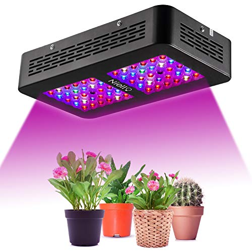 Niello® Pflanzenlampe Dual LED Grow Light Full Spectrum - Optical Lense Series LED Pflanzenlampe 300W Dual LED Grow Light Full Spectrum Wachsen mit 2 Schalter für Zimmerpflanzen Gemüse und Blumen
