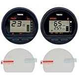Console Guard Boat Gauge Screen Protector for Yamaha Outboard Round Digital Multi-Function Gauges Beginning with 6Y5- Model Number, Anti-Scratch, HD Clear [2-Pack]