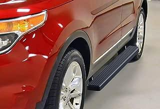 APS iBoard Running Boards 4 inches Matte Black Custom Fit 2011-2019 Ford Explorer Sport Utility 4-Door (Nerf Bars Side Steps Side Bars)