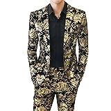 UJDKCF Chaqueta de Traje pantalón de los Hombres 2 Blazers Coat jugadas Vestido de Novia Banquete Pantalones tu se Asian 5XL is EUR 3XL