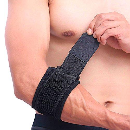 Ellenbogenbandage mit Kompressionskissen Epicondylitis Spange Tennisarm Bandage zur Schmerzlinderung bei Tennisellenbogen, Golferarm