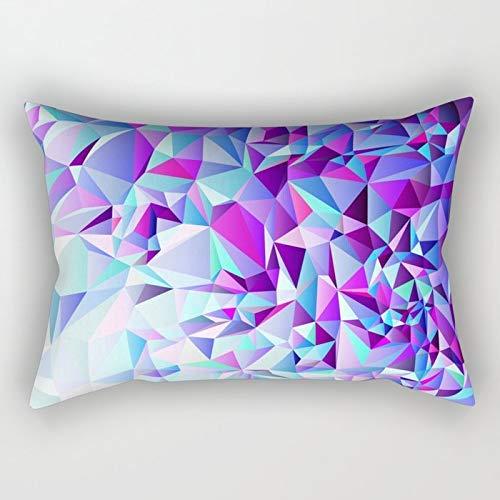 Yuanmeiju Purple+Teal Rectangular Funda de Almohada Fundas de colchón 20x30 Inch