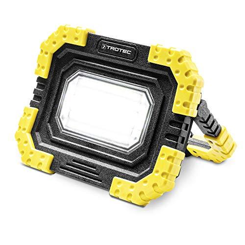 TROTEC Akku-LED-Arbeitsleuchte PWLS 06-10 Strahler USB-Powerbank-Funktion 800 Lumen Lichtstärke Leuchtdauer 8h 3 Beleuchtungsmodi Camping Outdoor Zelt IP44