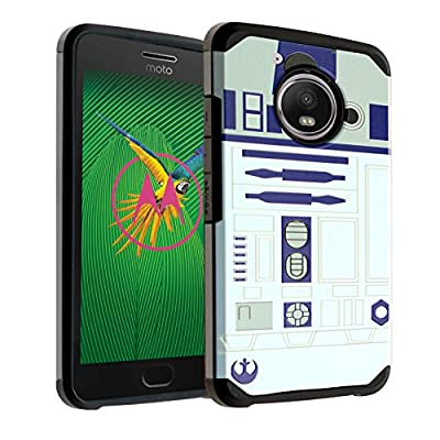 Moto X4 Case Star Wars R2D2 Astromech Droid Robot, DURARMOR Dual Layer Hybrid Shockproof Slim Fit Armor Air Cushion Defender Protector Cover for Moto X4 - R2D2 Star Wars