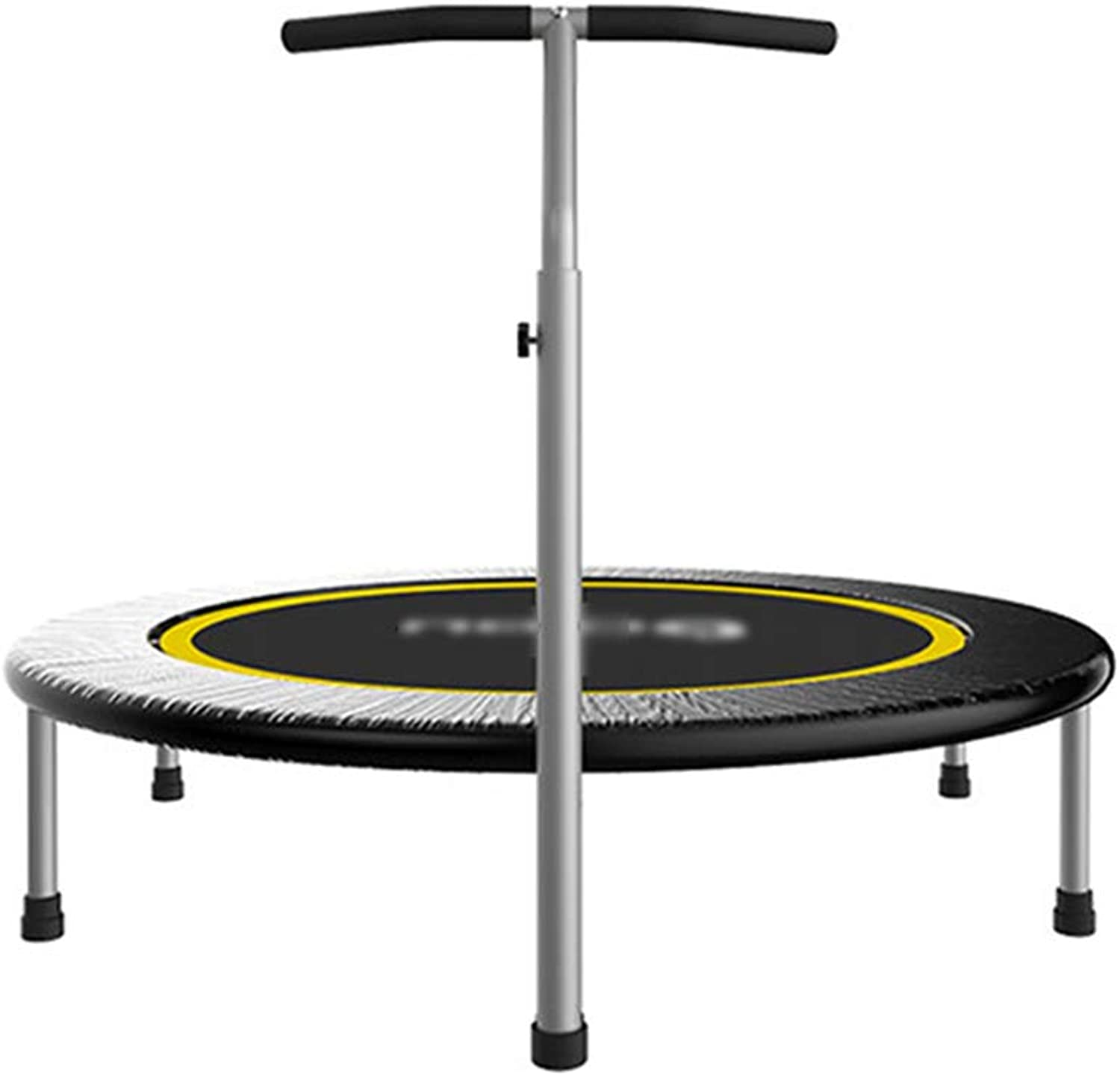 Trampoline with Adjustable Handle, Safety and Durable Toddler Trampolines Elastic Fitness Trainer for Kids or Adults Max Load 440lbs