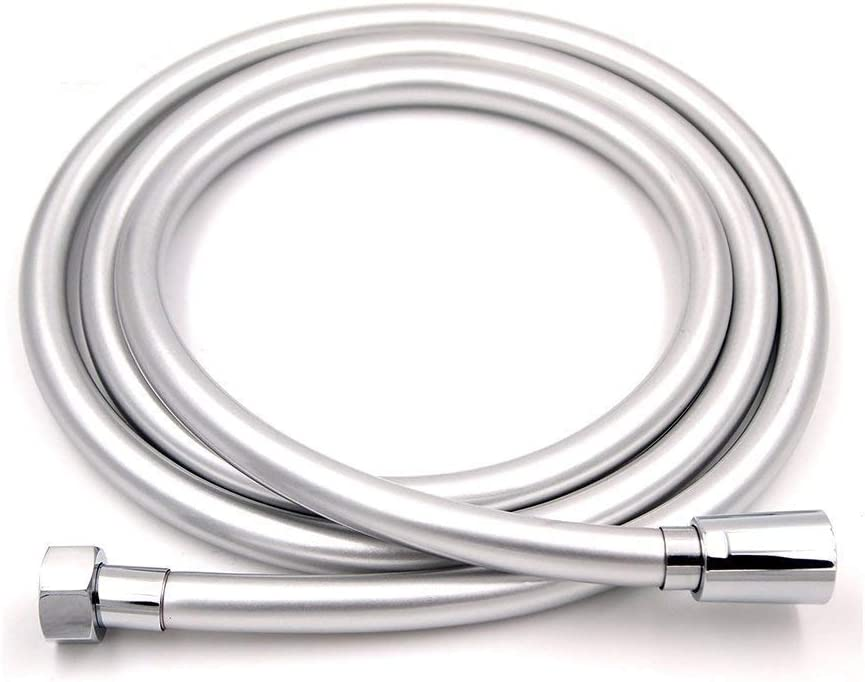 Zengest Shower Hose Smooth, Plastic Anti-Kink Shower Head Hose and Bidet Hose with Brass Connections, Silver, 79 Inch : Home Improvement