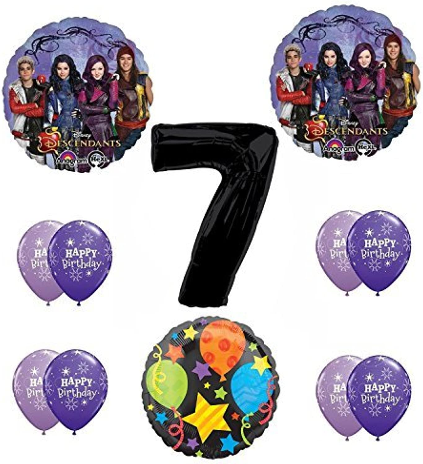 Disney The Descendants 7th Happy Birthday Party supplies Balloon Decoration Kit