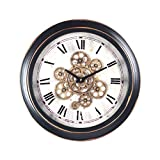 Home Gadgets Reloj de Pared Metal Retro 46 cm