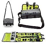 Caishuirong Custodie per Fotocamere Case Cover Bagagli Rotolo Protezione for Azione Sportscamera 1Pcs Fotocamera Impermeabile Bag per la Protezione telecamere (Color : Gray, Size : 25.5 x 15.5 x 8cm)