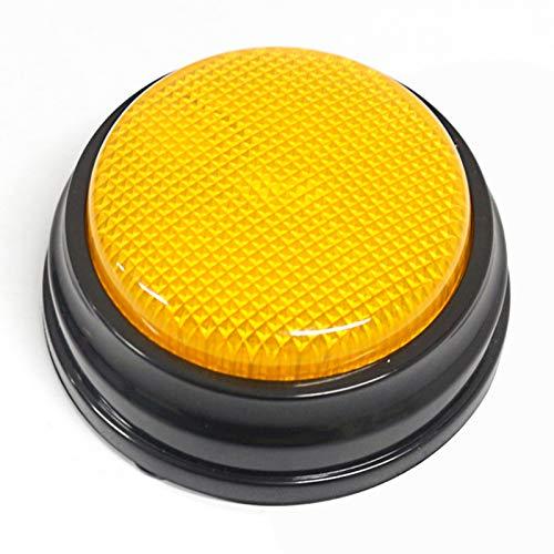 Walmeck Aufnahmefähige Sprechtaste mit LED-Lernressourcen Antwortsummer Orange