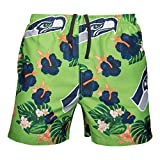 FOCO Mens Team Logo Floral Hawaiian Swimsuit Trunks, Color, XL...