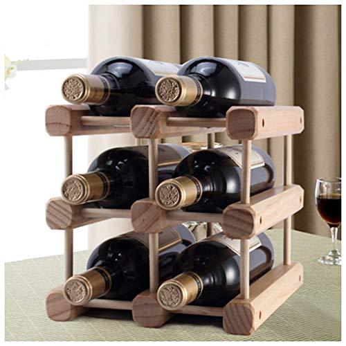 YLCJ Estante de Vino Estante de Pino Múltiple Estante de Vino de Madera sólida Botella de exhibición Estante de Vino El Estante de Vino de Madera Puede ser una decoración Creativa