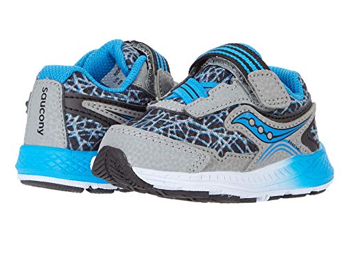 Saucony Ride 10 Jr Zapatillas para niños, Gris (Gris, azul, negro), 6.5 Wide Little Kid