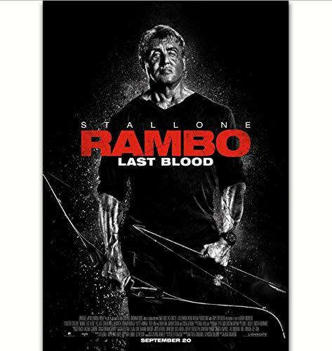 yhnjikl Rambo Last Blood Film 5 V Sylvester Stalloe Malerei Poster Drucken Leinwand Wandbild Für Home Room Decor 40X60 cm Ohne Rahmen