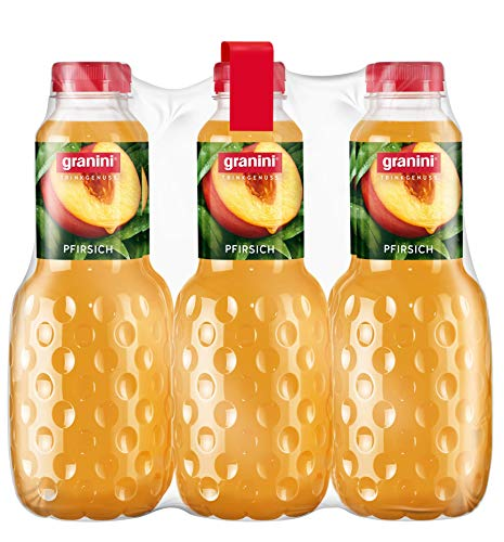 granini Trinkgenuss Pfirsich-Nektar, 6er Pack (6 x 1 l) Flasche
