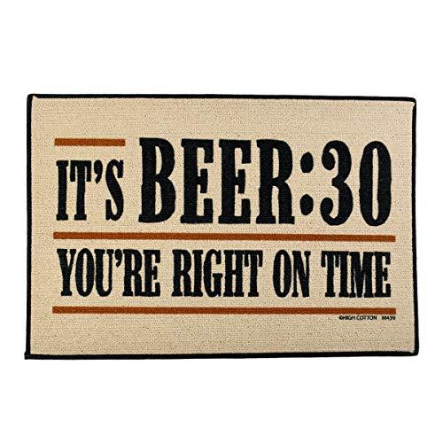 TG,LLC Treasure Gurus Funny Beer 30 Welcome Doormat Outdoor Floor Rug Bar Pub Door Entrance Mat Novelty Home Decor