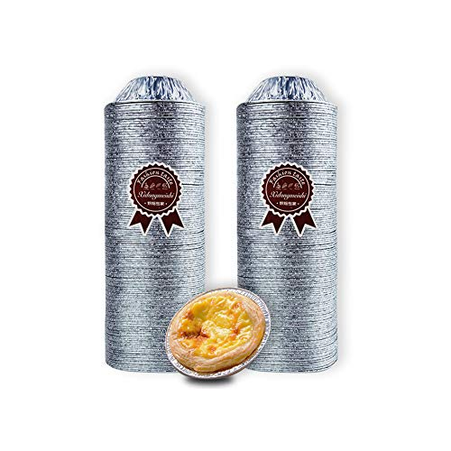 CHUN LING 240 Molde de Papel Aluminio desechable para Hornear Piezas, Mini Ligero Bandejas Huevos, Calentar los Alimentos Manera Uniforme, Adecuado Empanadas, cocinar, barbacoas, etc.
